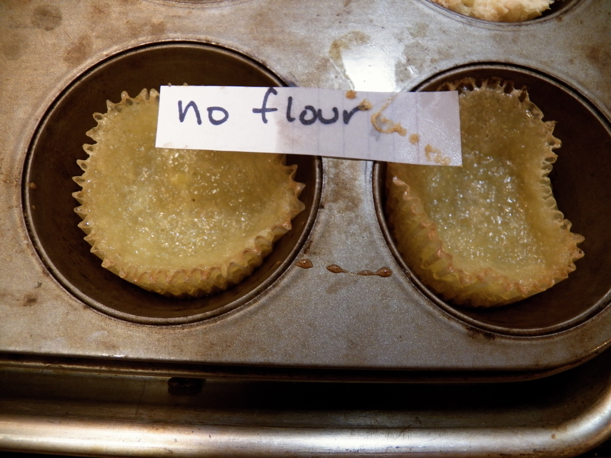 No flour cupcake results.