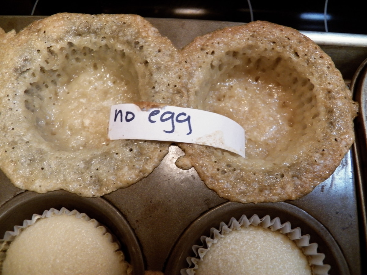 No egg cupcake results.