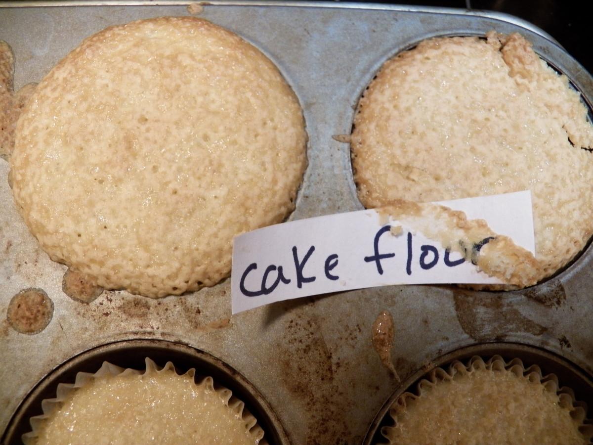 Cake flour cupcake results.