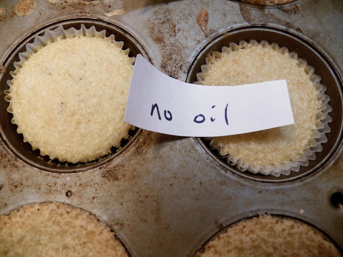 No oil cupcake results.