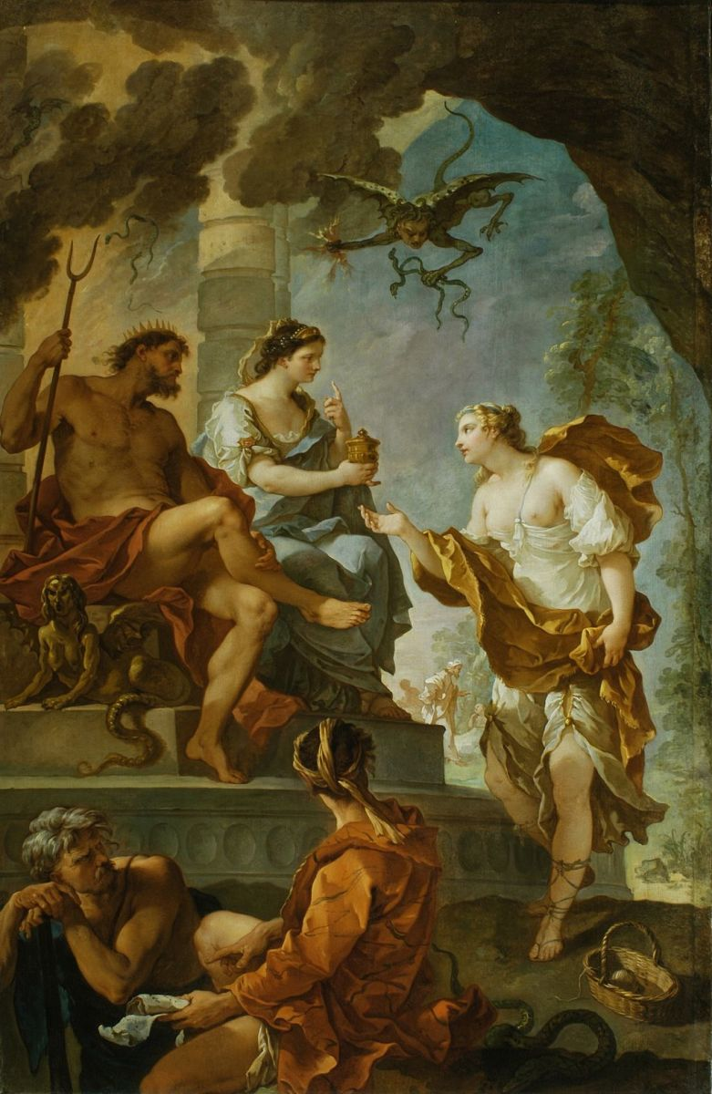 Psyche obtaining the Elixir of Beauty from Persephone.