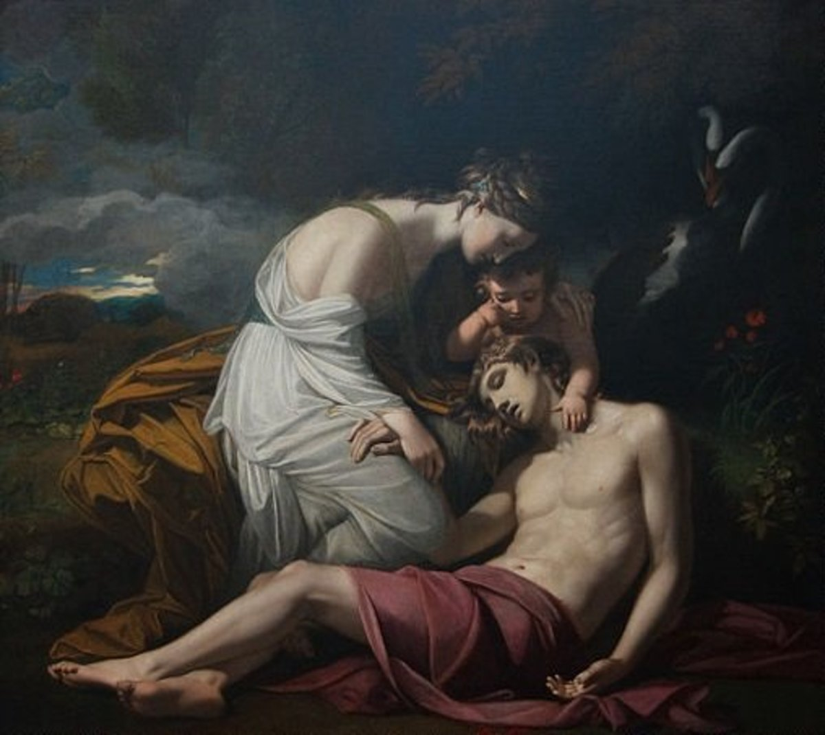 Aphrodite grieving the Death of Adonis.