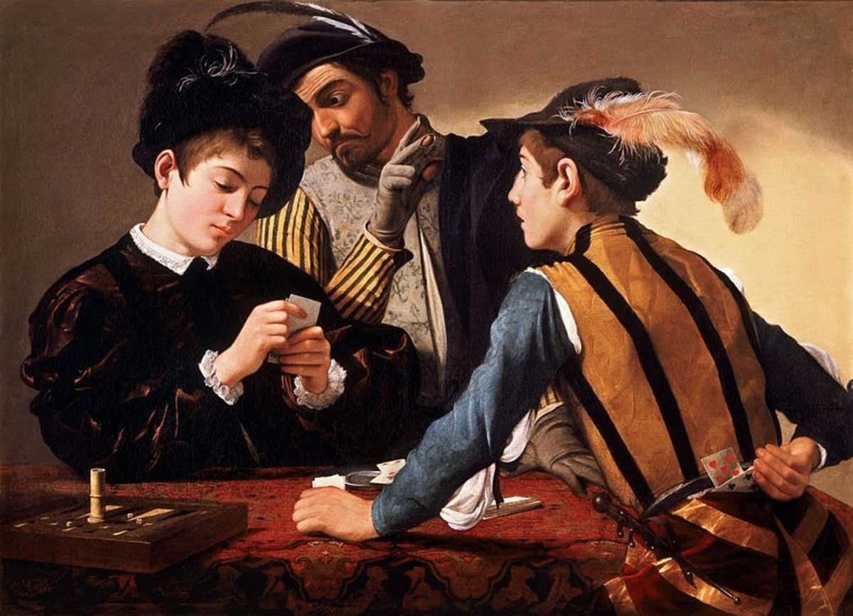 The Cardsharps (a. 1594), Fort Worth, Kimbell Art Museum