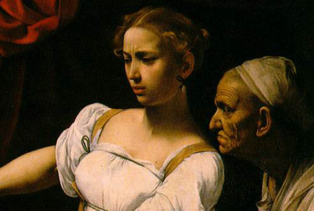 Judith Beheading Holofernes (1599) - detail, Rome National Gallery of Ancient Art, Palazzo Barberini