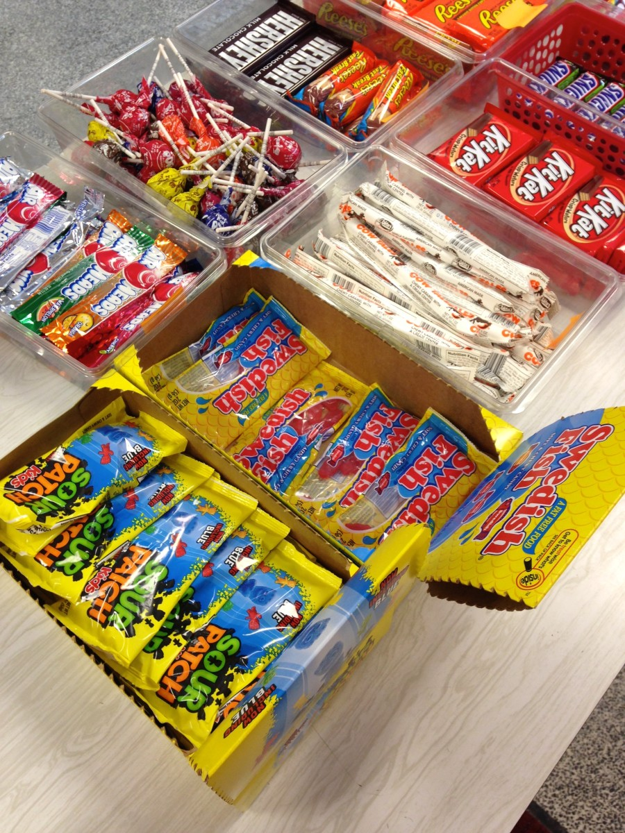Candy is always a huge seller at school concession stands.