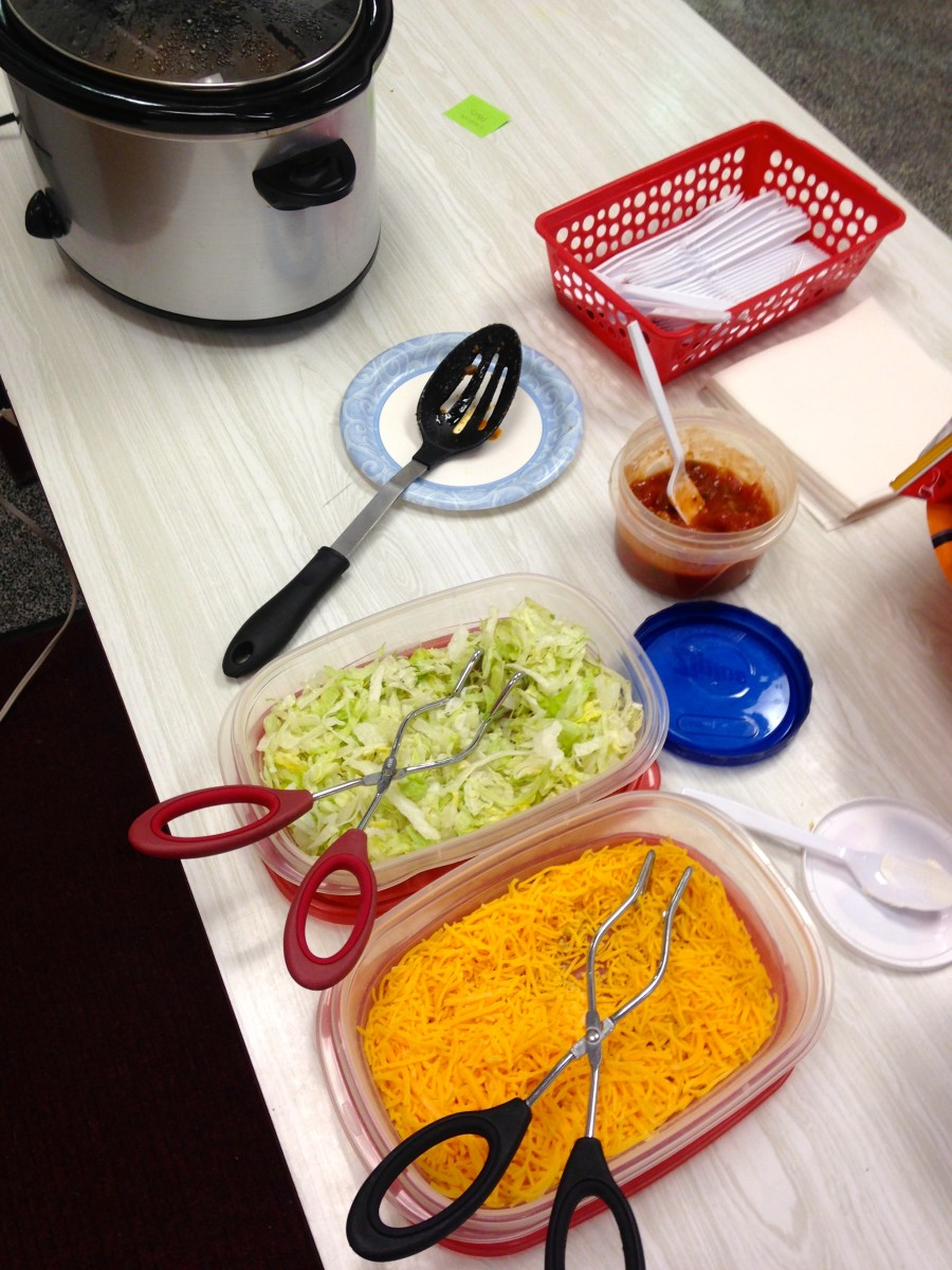 Toppings for one of the most popular concession stand items, Walking Tacos.