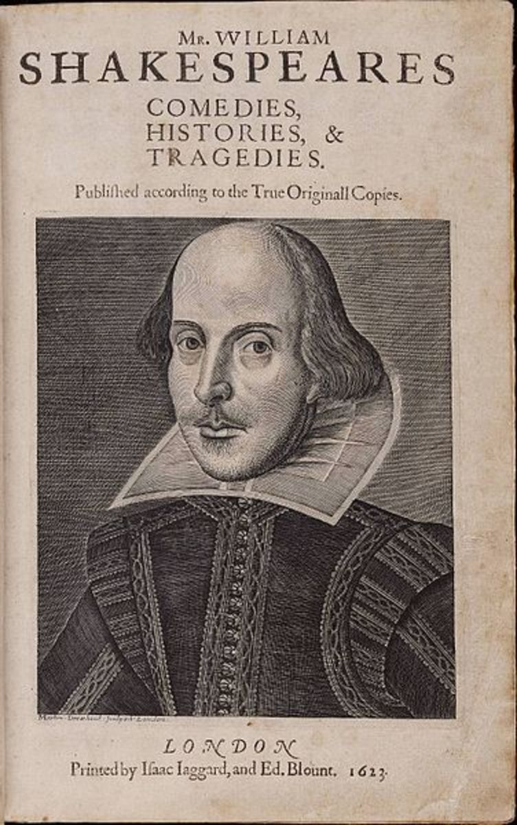 Title page of the First Folio,