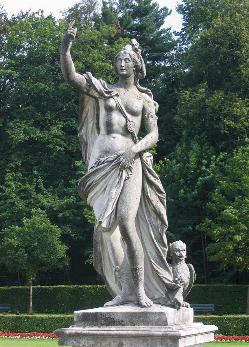 Proserpina-Statue von Dominikus Auliczek (1778) im Schlosspark Nymphenburg, München Rufus46 This file is licensed under the Creative Commons Attribution-Share Alike 3.0 Unported license