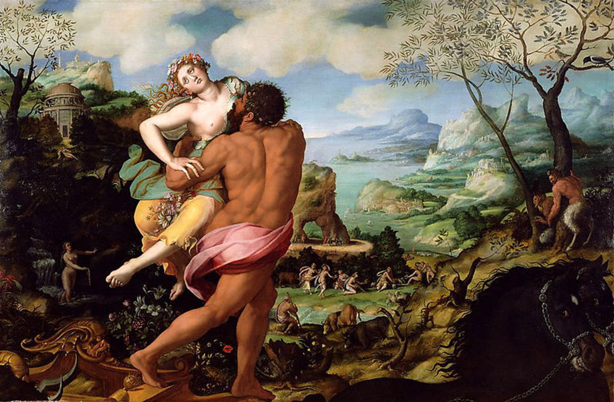 The Rape of Persephone (1570) Alessandro Allori (1535–1607)  PD-art-100
