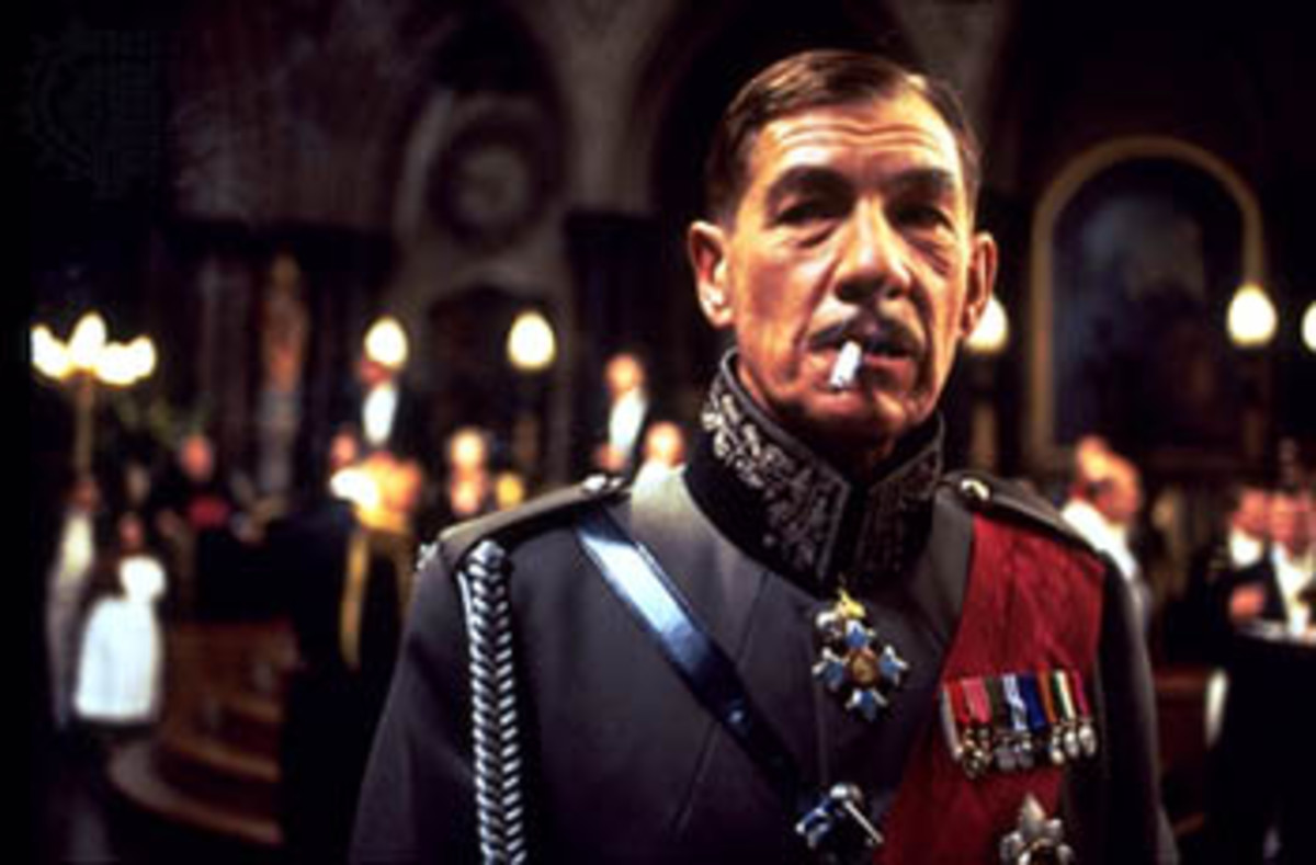 "Sir Ian McKellen as Richard III in Richard Loncraine's film adaptation, ""Richard III"""