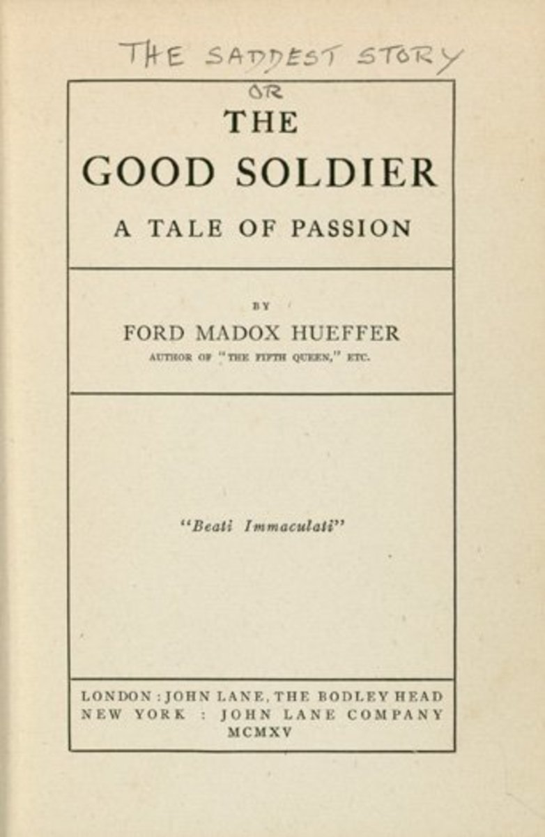 First edition of Ford Madox Ford's 'The Good Soldier'