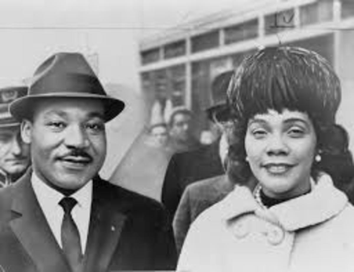 Martin Luther King & wife, Coretta Scott King