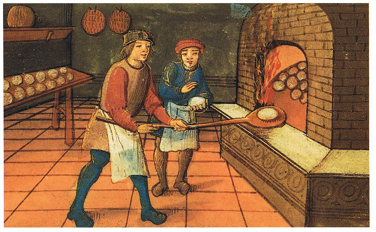 A castle kitchen was a busy workplace, providing food and warmth.