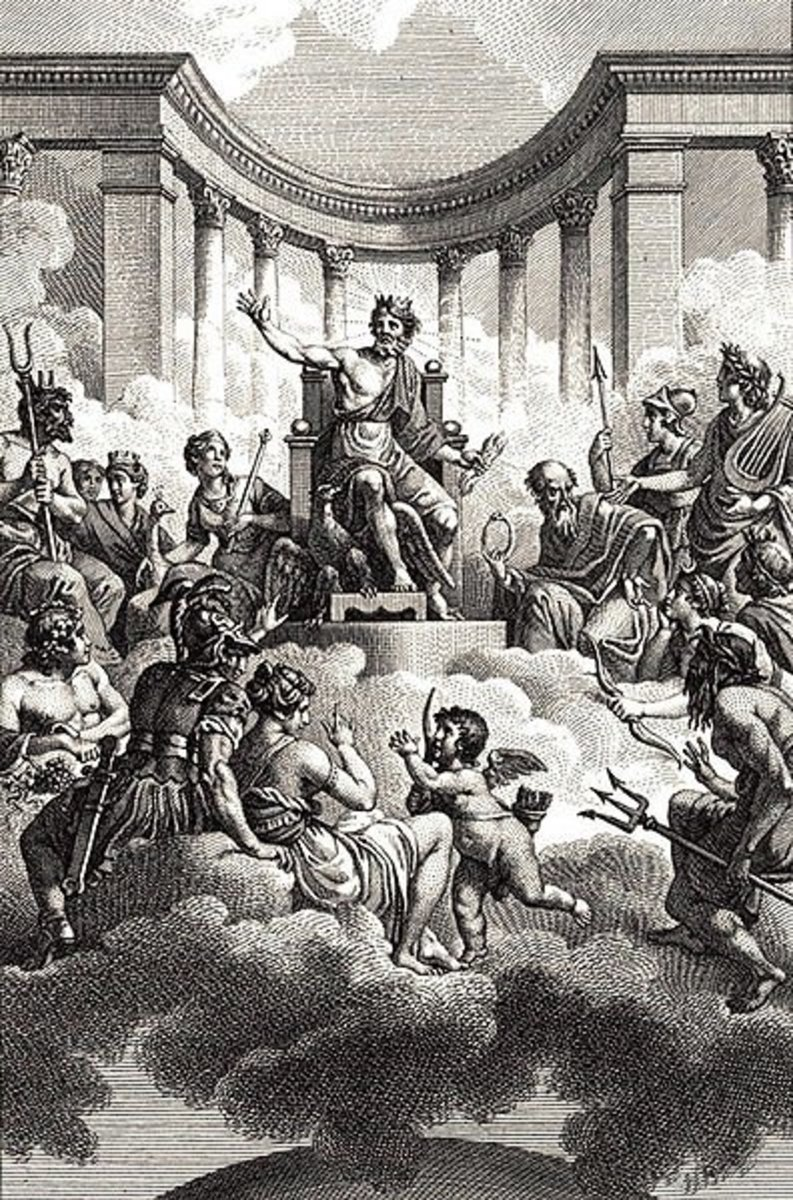 The Olympian gods; work by Monsiau (1754 - 1837) PD-art-100