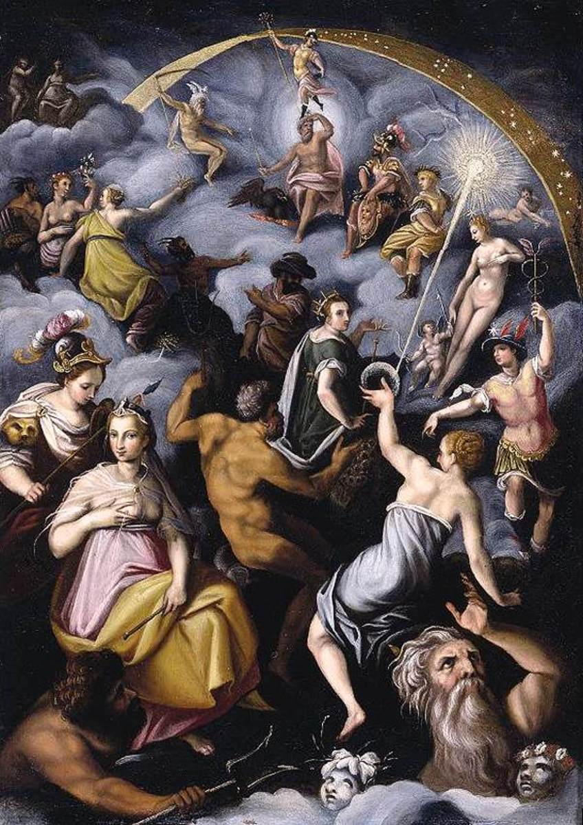 Jacopo Zucchi - The Assembly of the Gods PD-art-100