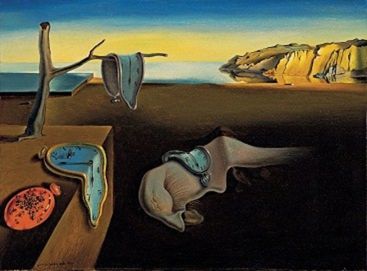 "Popularly known as ""the melting watches"", this famous painting by the surrealist Salvador Dalí is actually titled ""The Persistence of Memory""."
