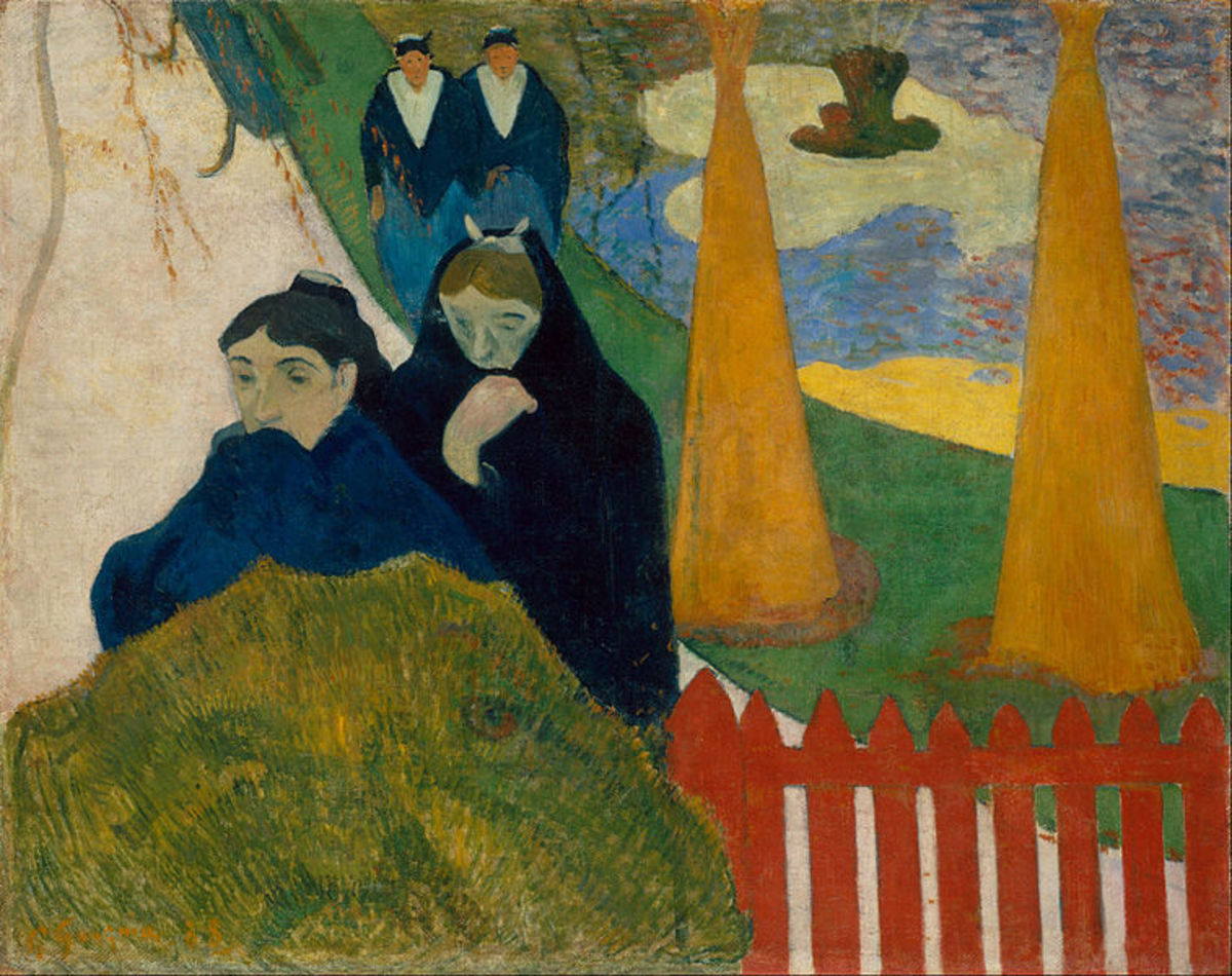 This painting by Paul Gauguin is a lesser-known work sold by the artist to another famous painter, Van Gogh, for the sum of 300 French francs in the late nineteenth century!