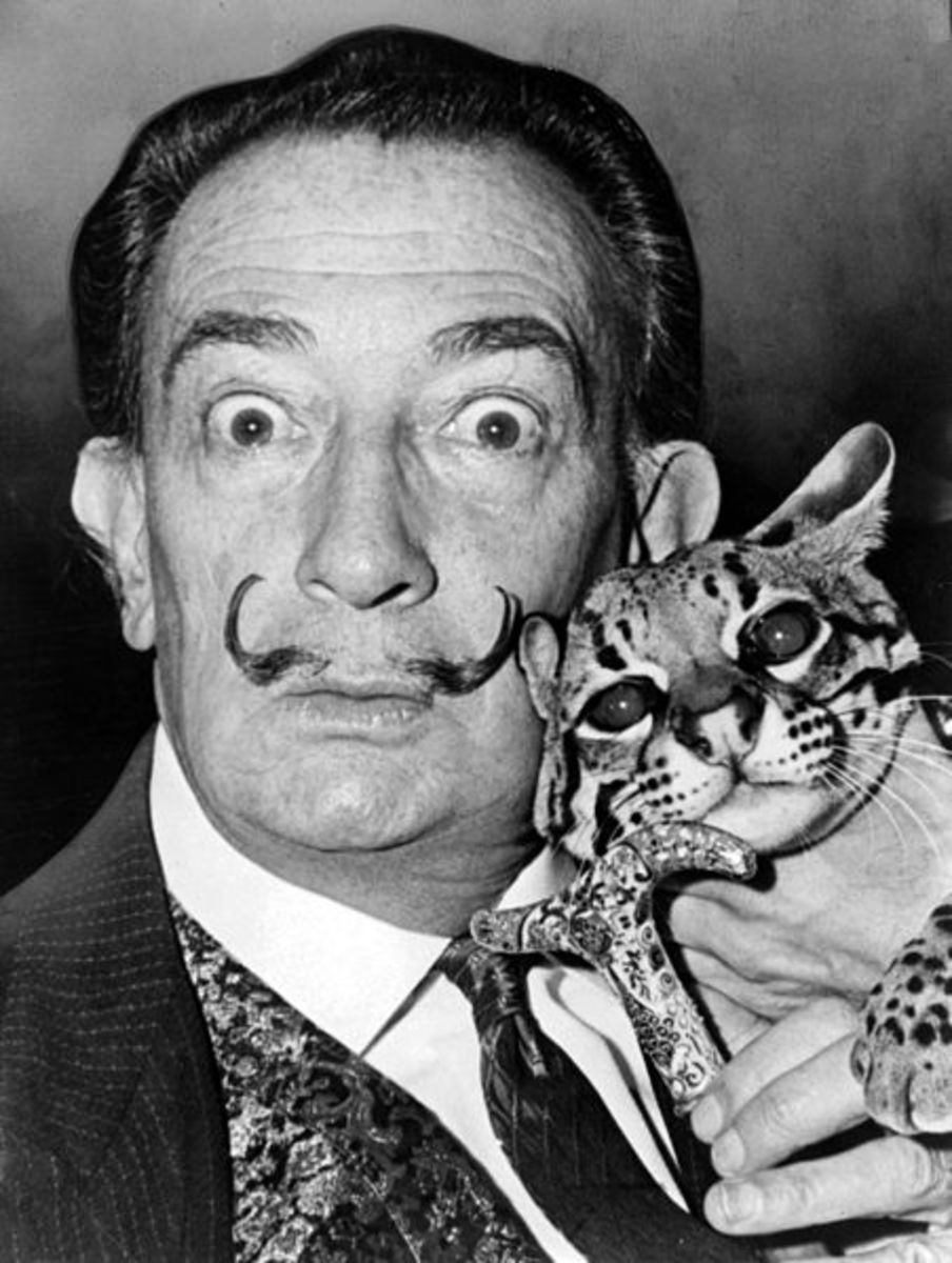 Salvador Dalí - the most influential leader of the Surrealist Movement in Modern Art. He was interested in irrationality and dreams.