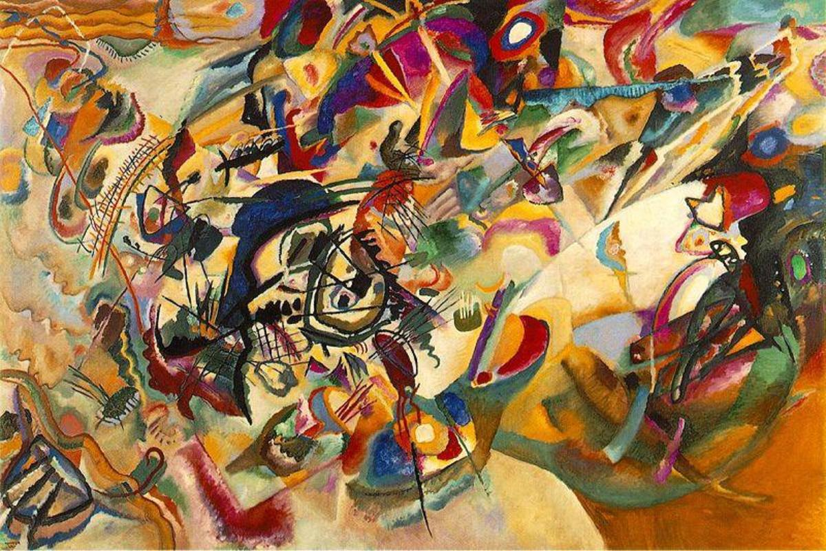 "Kandinsky's  most complex painting, ""Composition VII"", from his 1913 body of work."