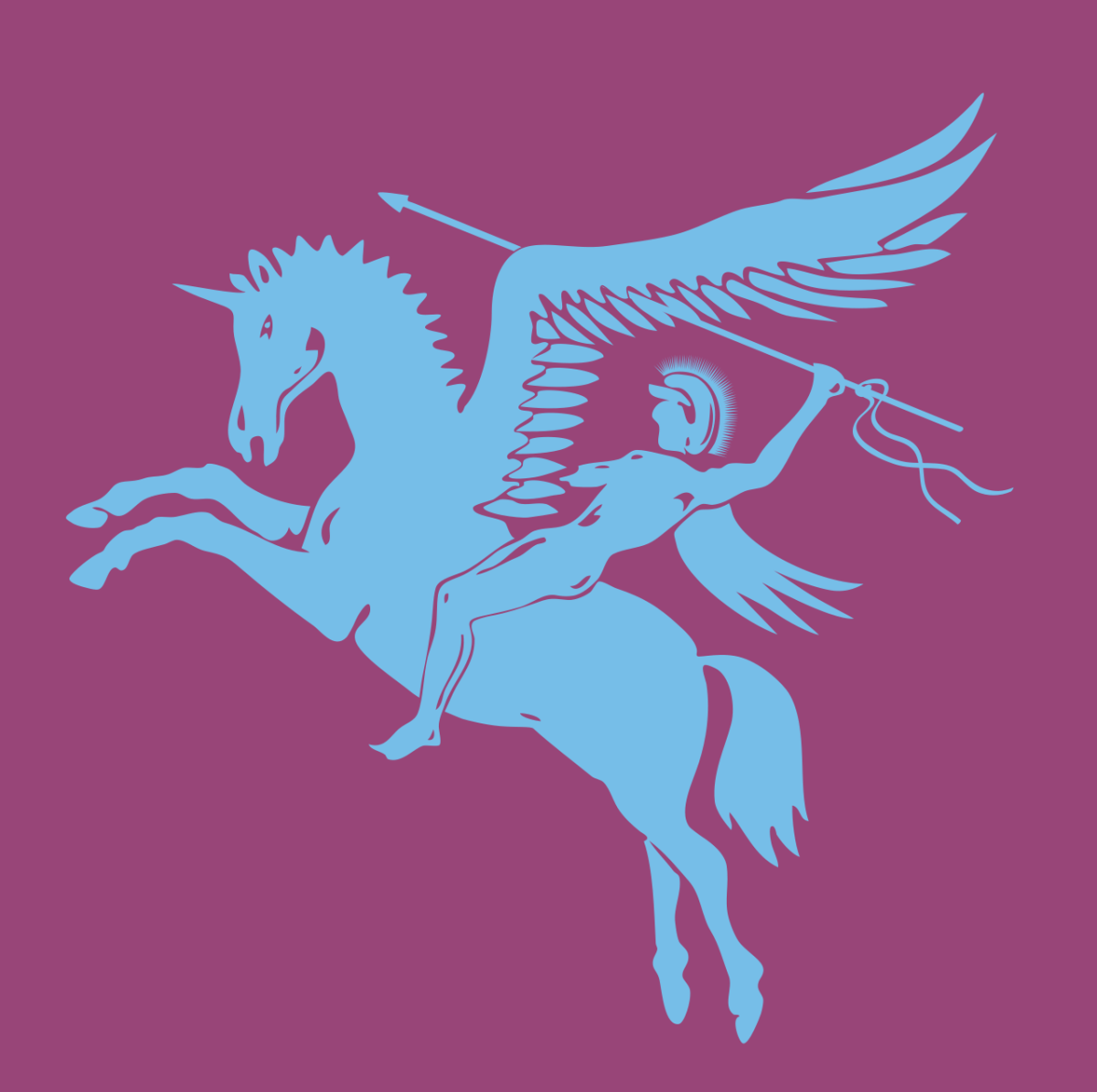 The symbol of the British Airborne Forces in World War II was Bellerophon, a Greek hero, riding Pegasus.