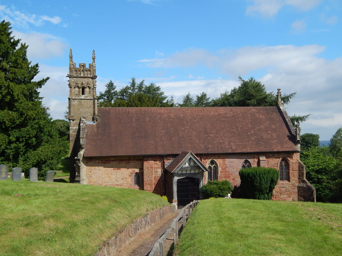St Kenelm's Church, Romsley, in the Clent Hills