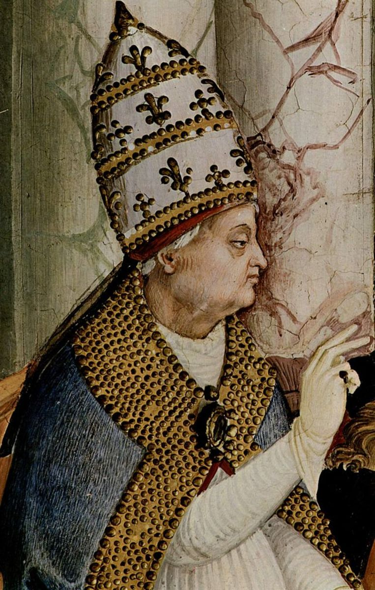 Pope Pius II's papacy was 1458-1464
