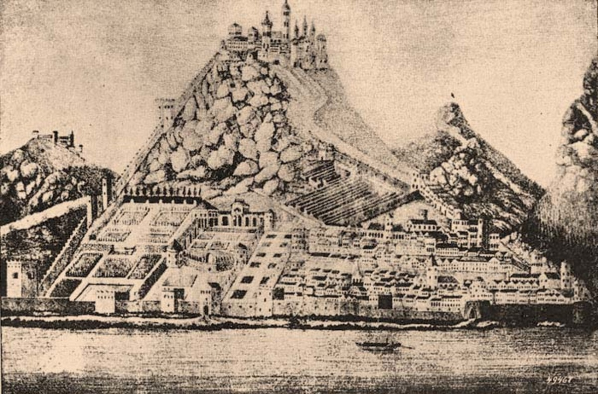 Visegrad Castle as it looked during the reign of Matthias Corvinus