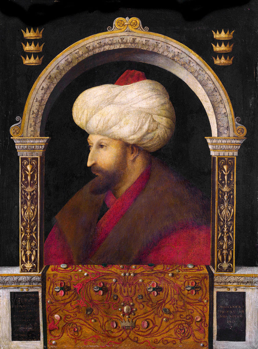 Sultan Mehmed II in 1479. Portrait by Italian painter Gentile Bellini