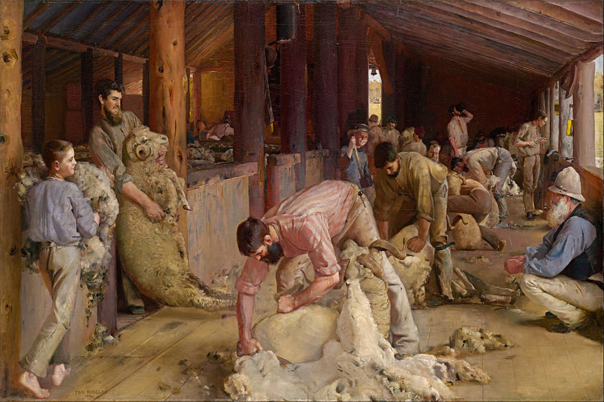 Shearing the rams (Tom Roberts)