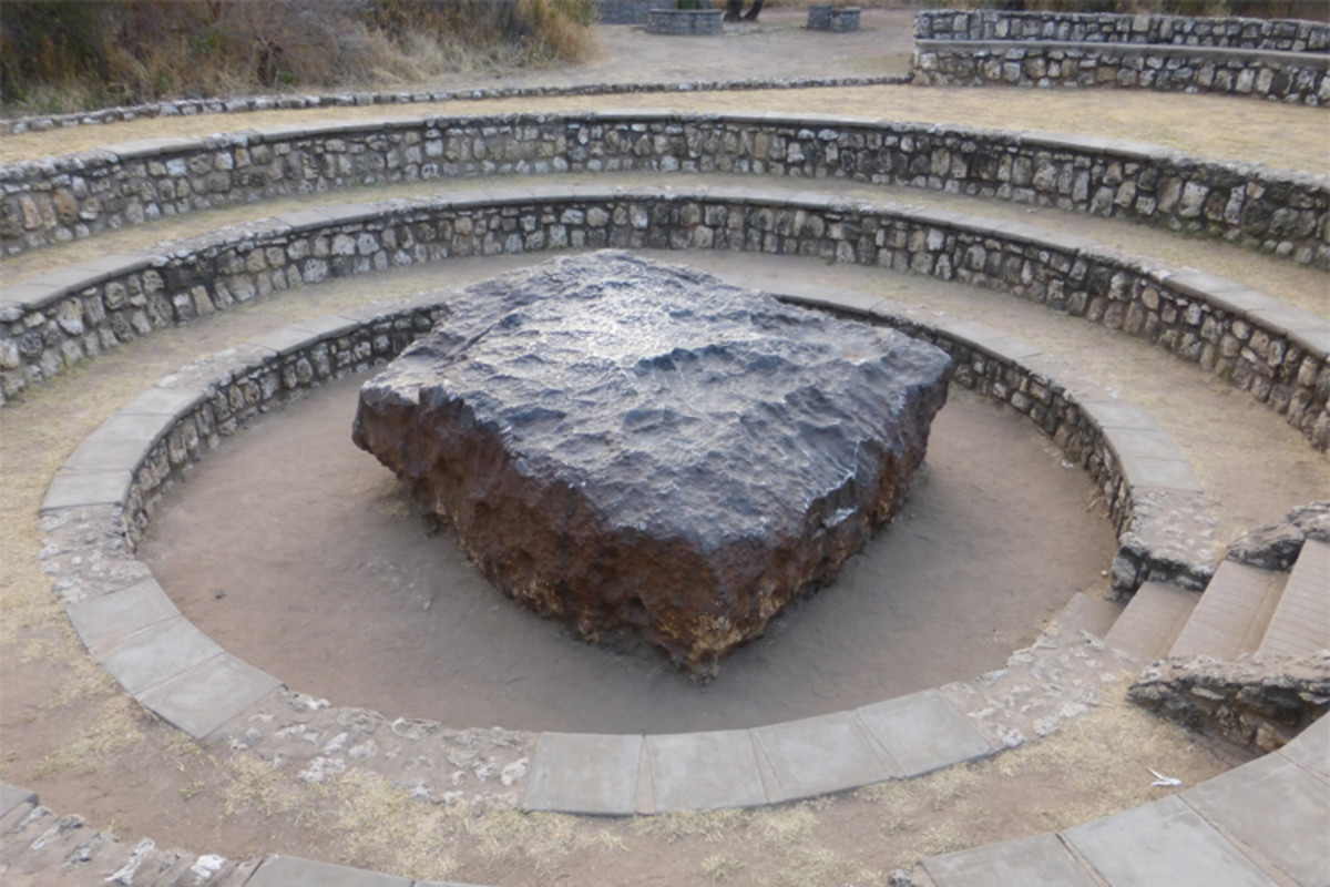 The Hoba meteorite in Namibia is the largest known intact meteorite. It is thought to have occurred less than 80,000 years ago.