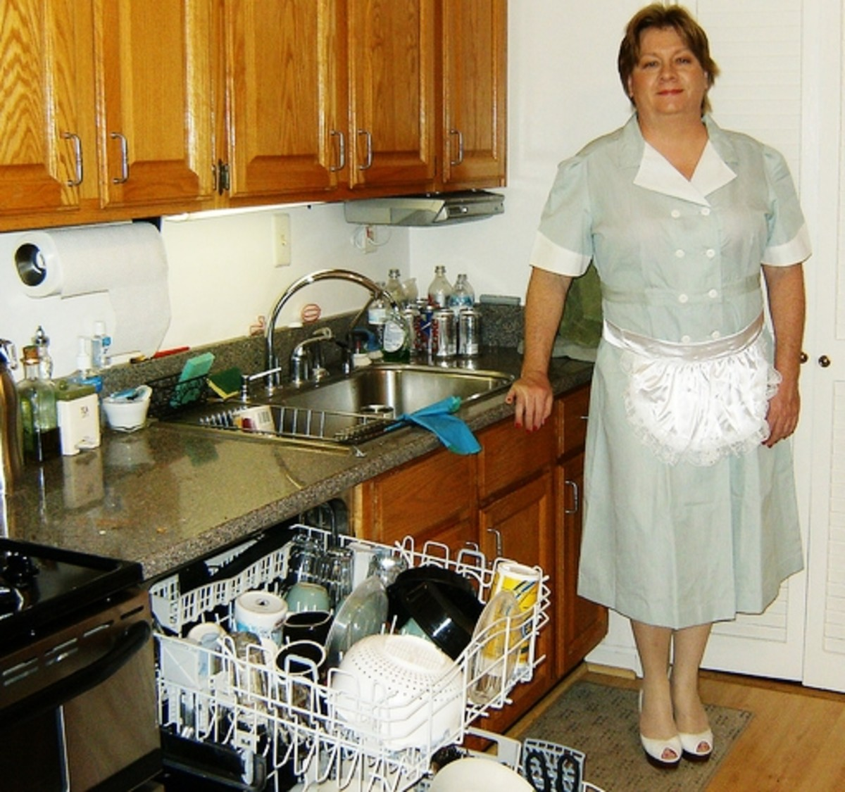 Does working as a maid create a positive or negative situation for women?