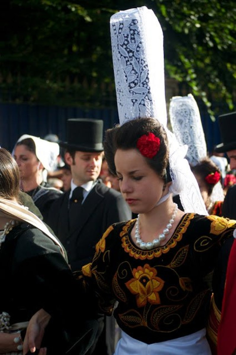 """Coiffe of Bigouden,"" traditional lace cap worn by some Breton women."