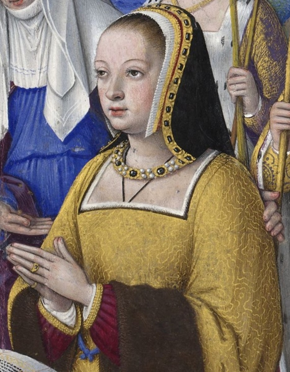 A portrait of St. Anne, the patron saint of Brittany.