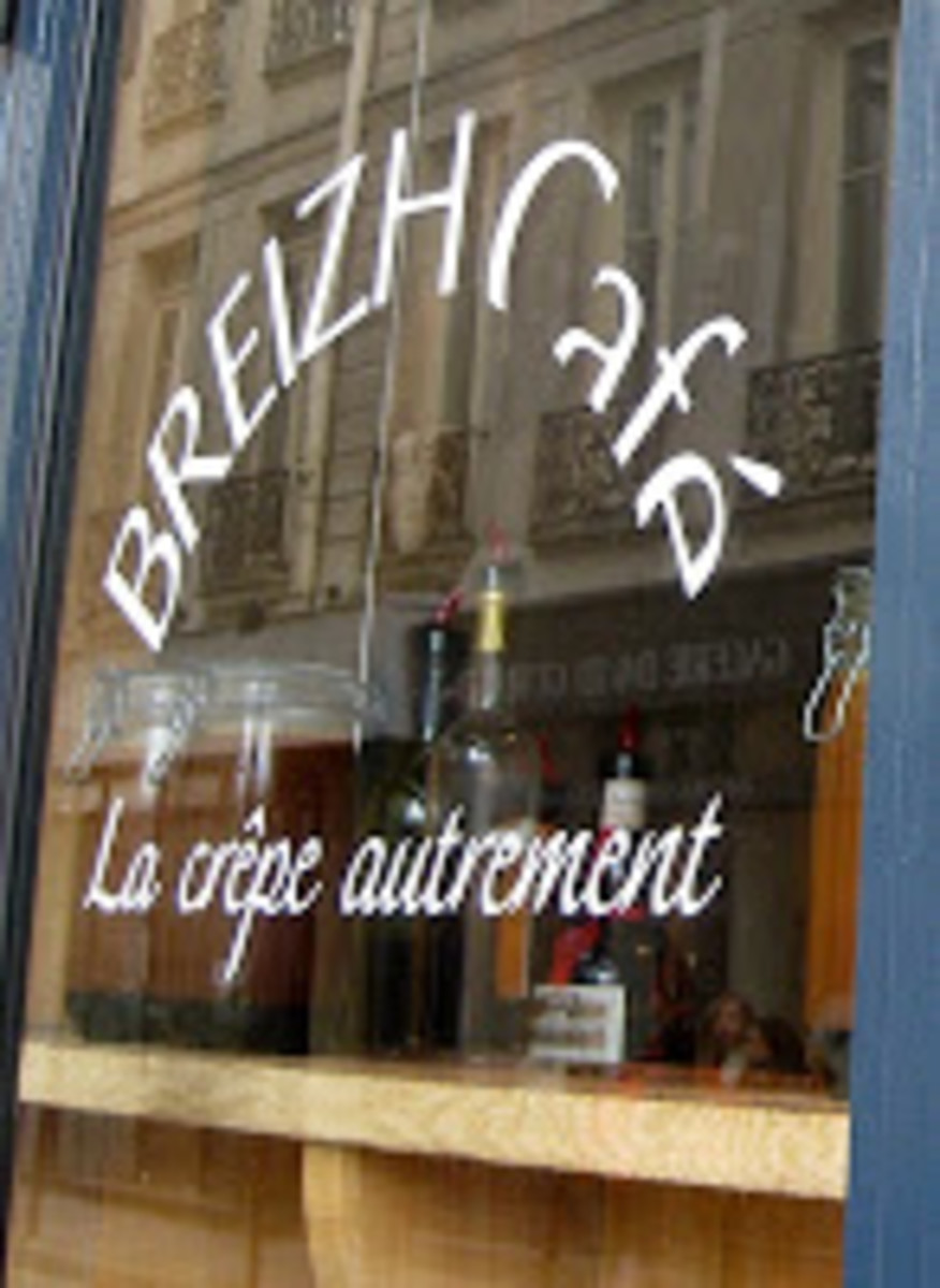 Brittany Cafe, Marais, France makes authentic Breton crepes.