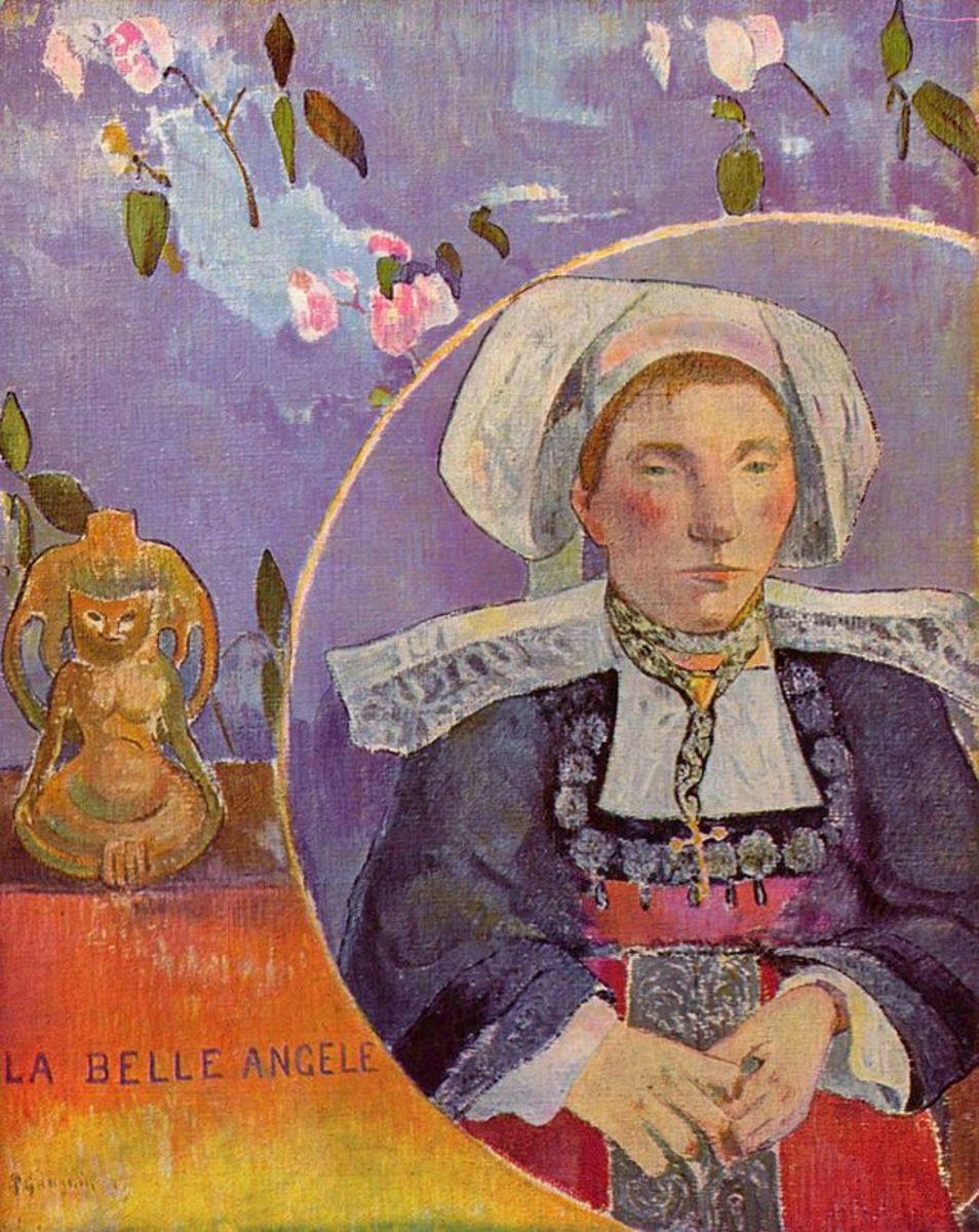 Painting of Breton woman by Paul Gauguin who lived in Brittany during the 19th century and painted a series of paintings of the Breton women.