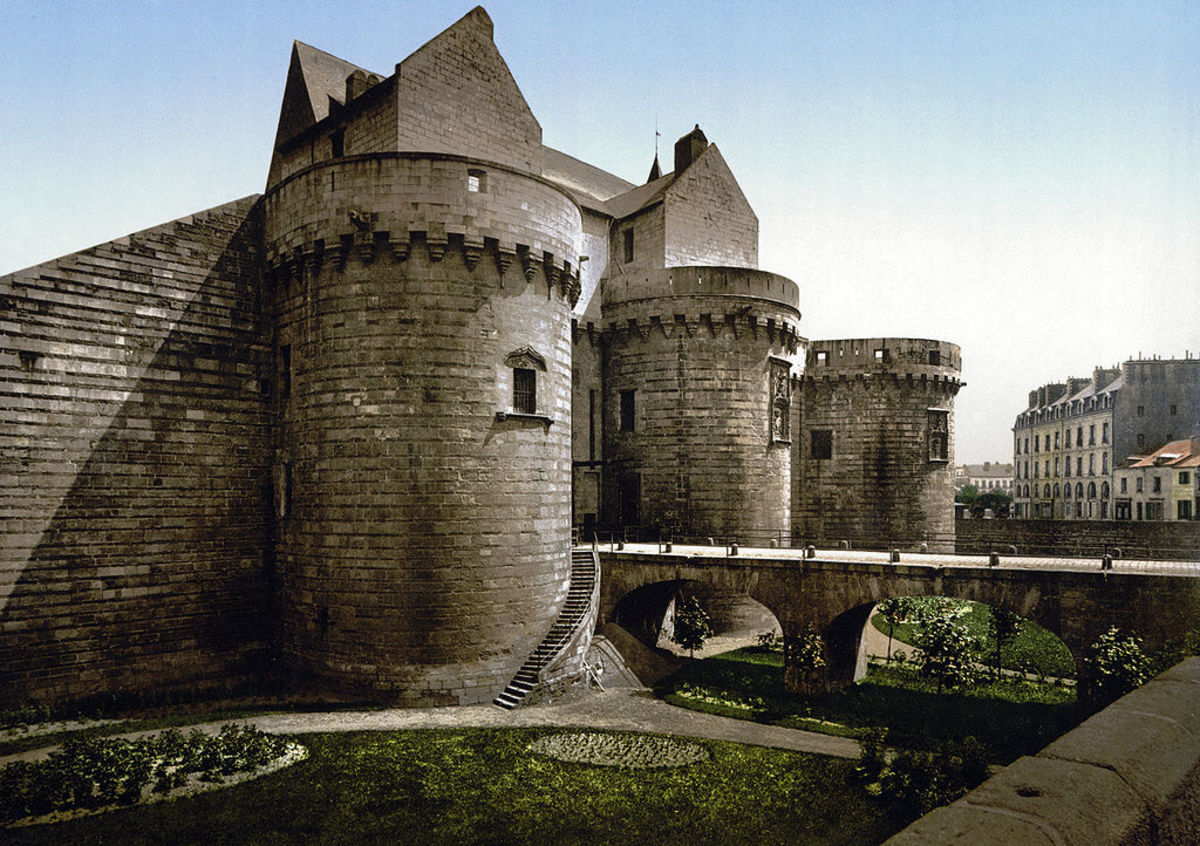 Chateau Nantes of the duchy of Brittany.