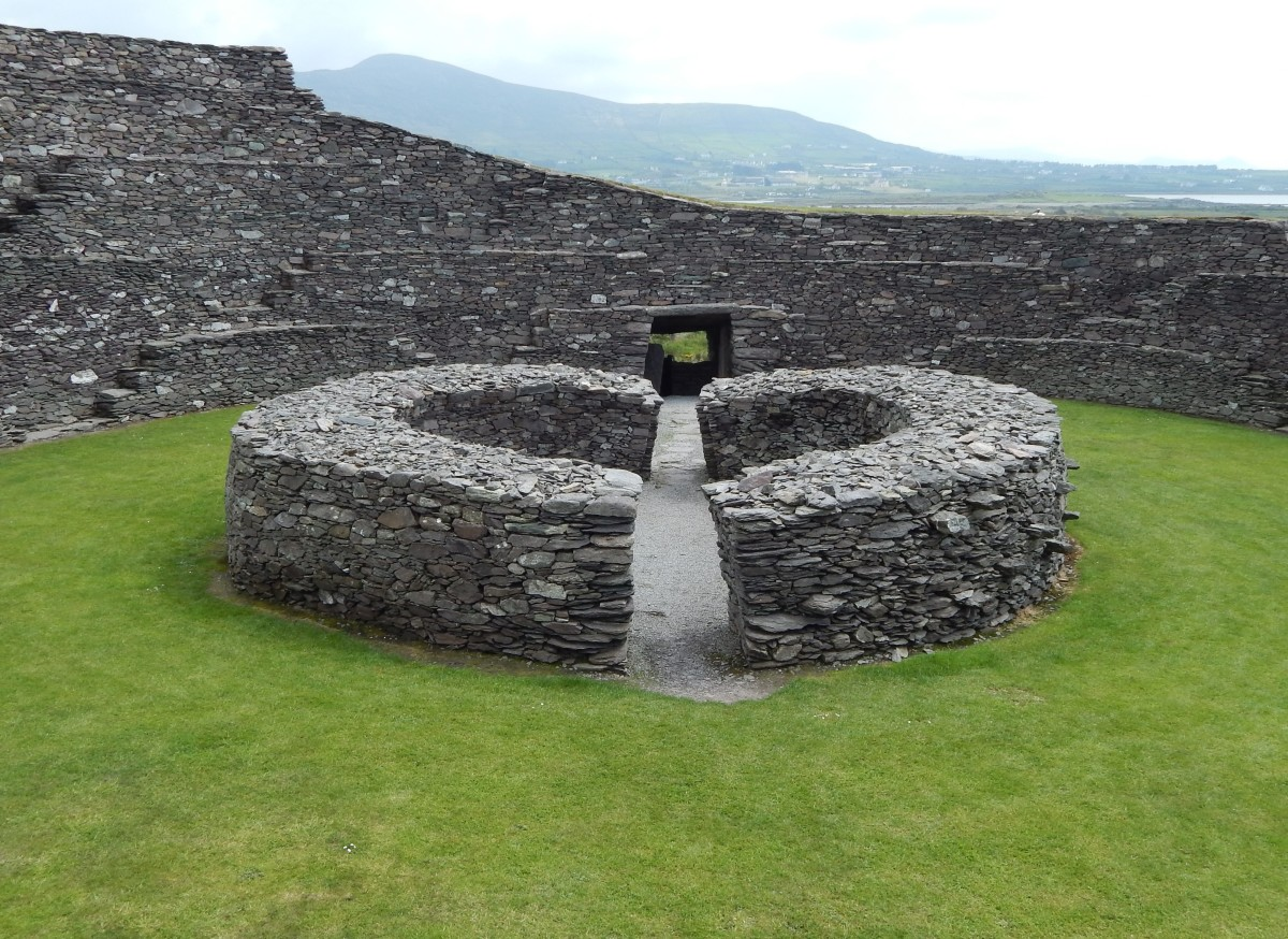 Internal view of Cahergall Stone Ringfort