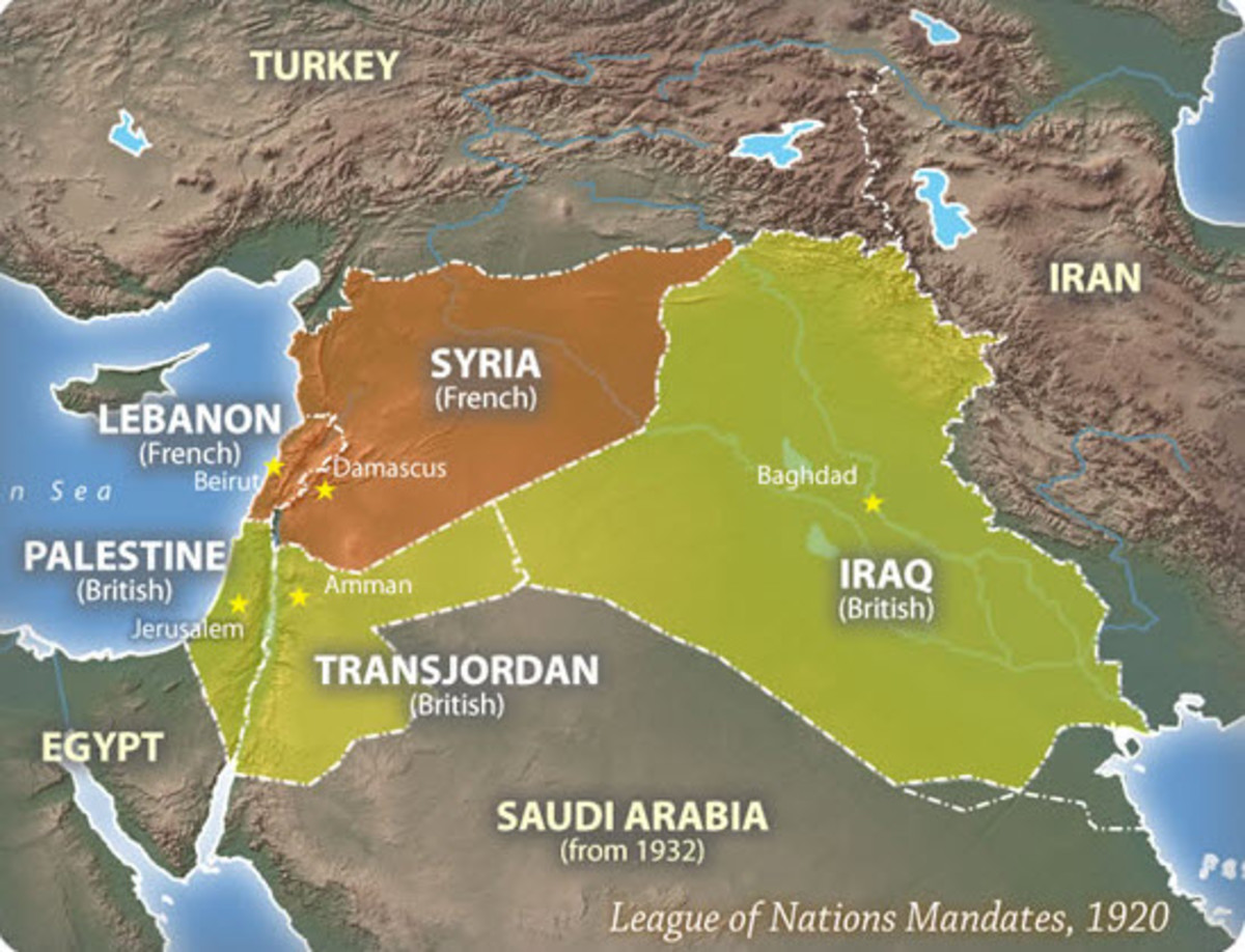 Middle East Map Before Wwii.How The Middle East Was Affected By World War I Owlcation