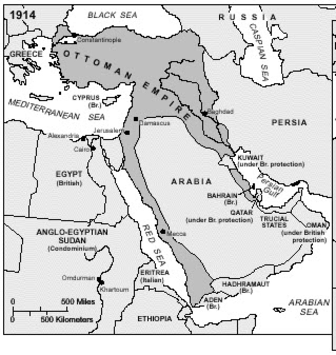 The Middle-East Before WWI