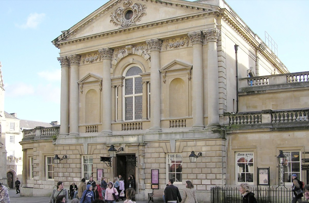 The entrance to the Roman Baths was built in Victorian times.