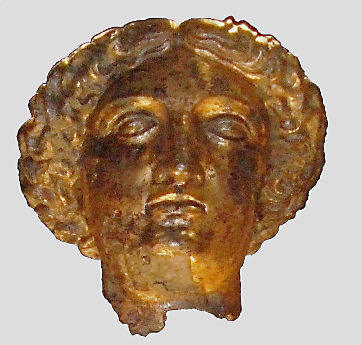 The head of a statue of Sulis Minerva from the temple at the Roman Baths