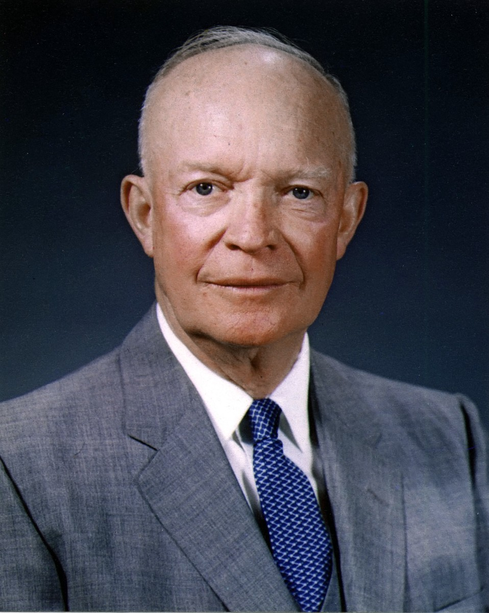 President Dwight D. Eisenhower, who authorized the Central Intelligence Agency to plan the Bay of Pigs Invasion