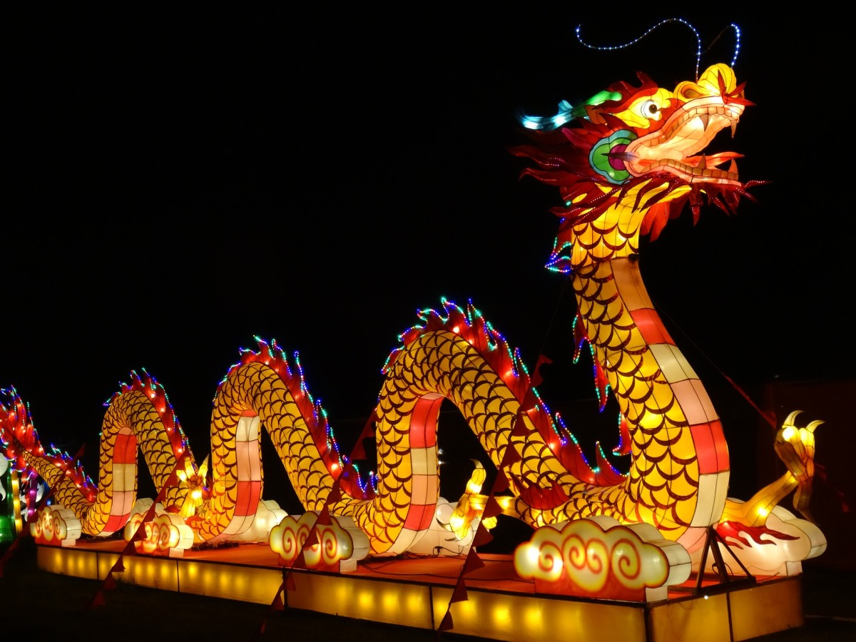 A Chinese dragon looks more like a snake than dragons from other parts of the world.