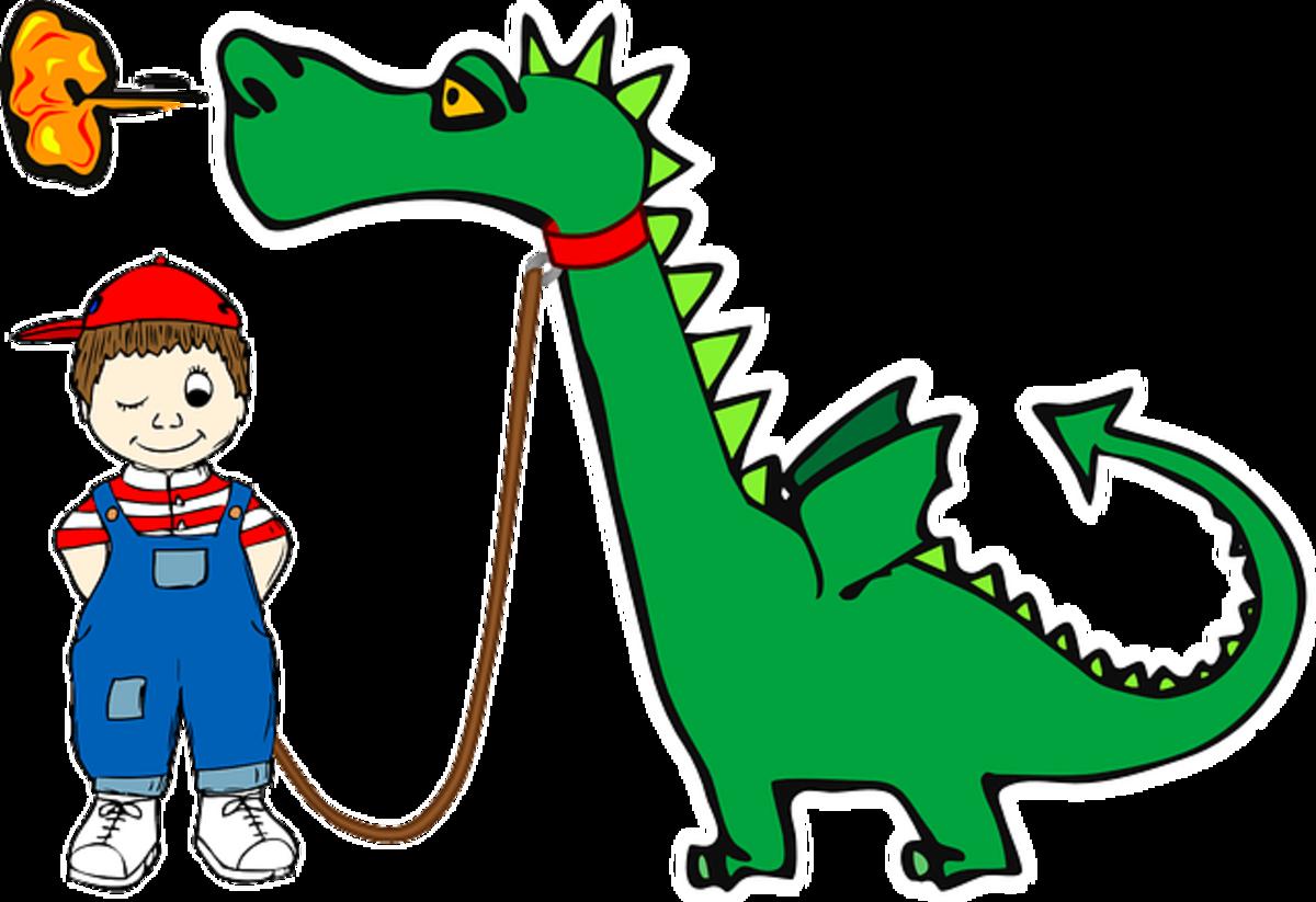 A dragon is a boy's best friend?