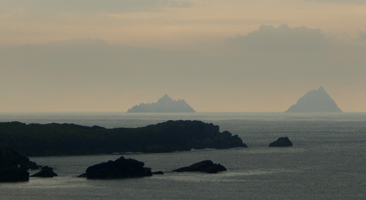 The Skellig Isles at dusk