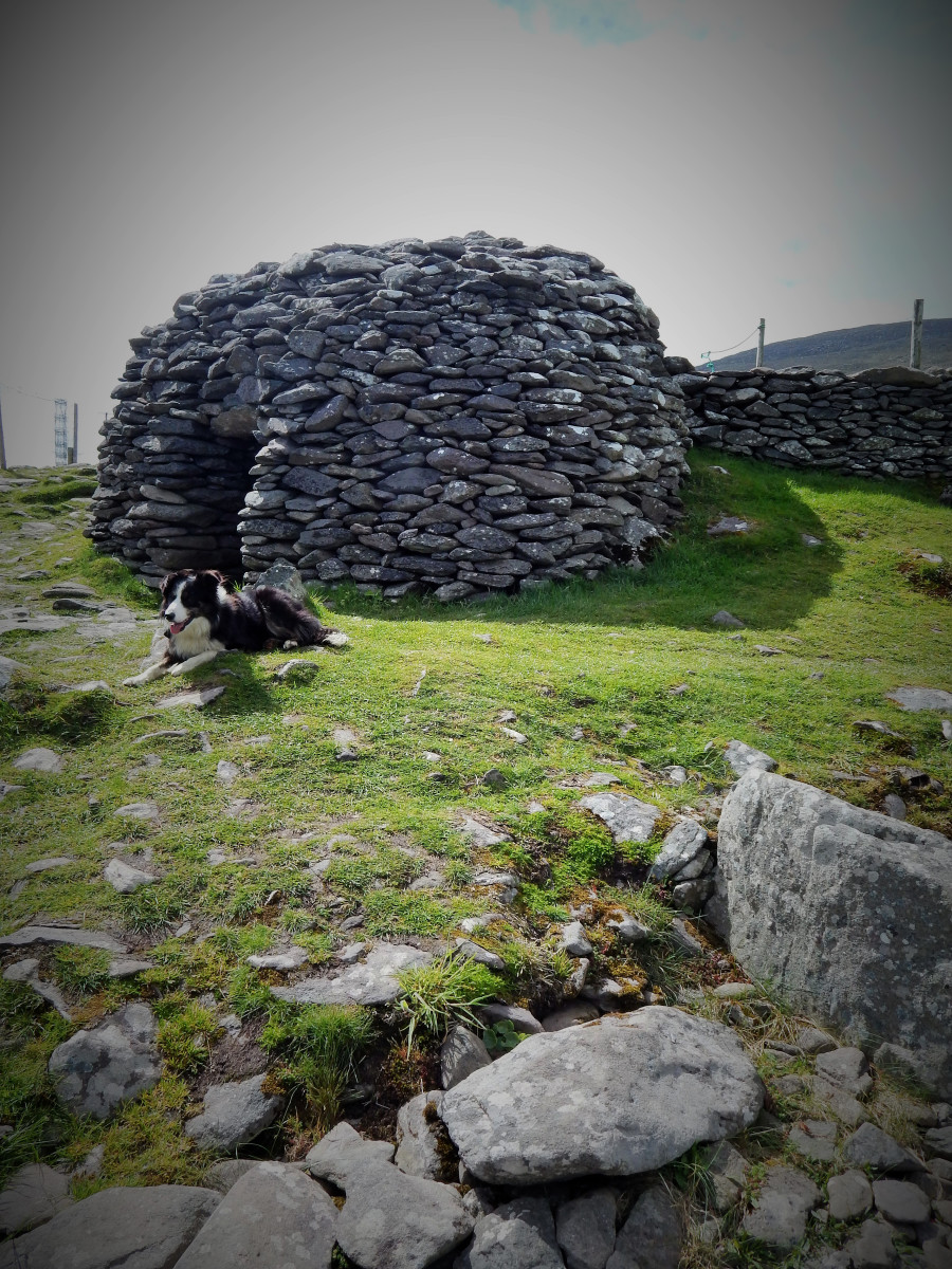 One of the Fahan beehive huts at the Caher Conor site, County Kerry, Ireland.