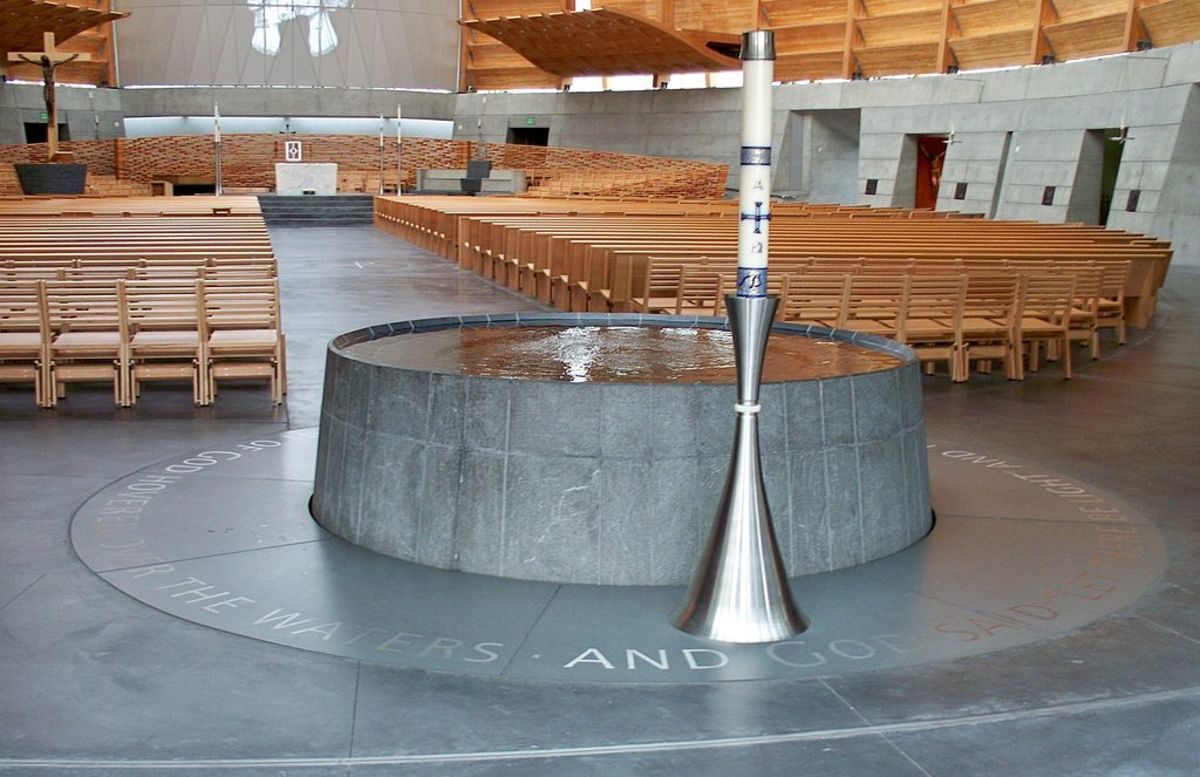 Baptismal font, Cathedral of Christ the Light, oakland, CA