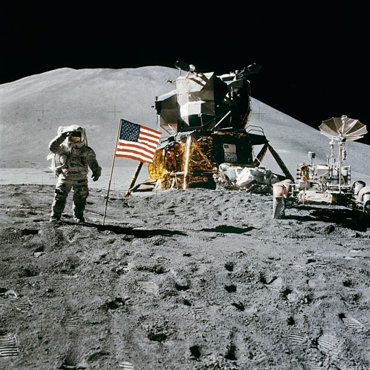 Galileo first uncovered the mysteries of the Moon in 1608. 360 years later, in 1969, the Apollo Moon Mission landed the first people on the Earth's nearest satellite: the Moon.