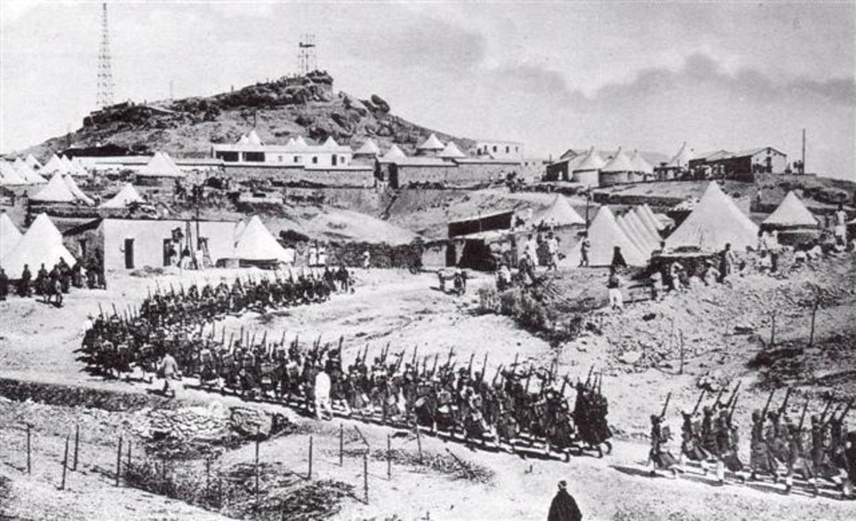 French troops in Morocco during the Agadir Crisis, March 30, 1912