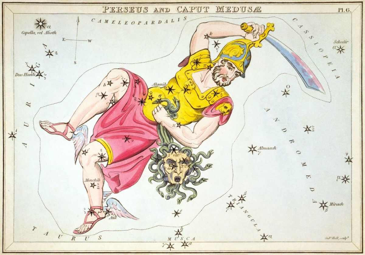 Athena placed Perseus in the heavens.